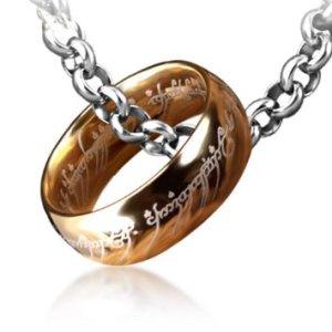 anello con collana il signore degli anelli